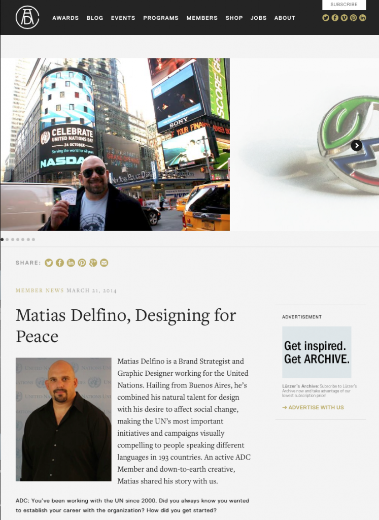 Matias Delfino, Designing for Peace