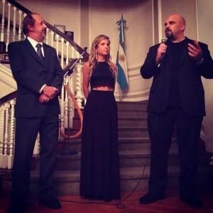 Junto al Embajador Argentino en New York Jose Luis Perez Gabilondo y la fotografa Lucia Fainzilber
