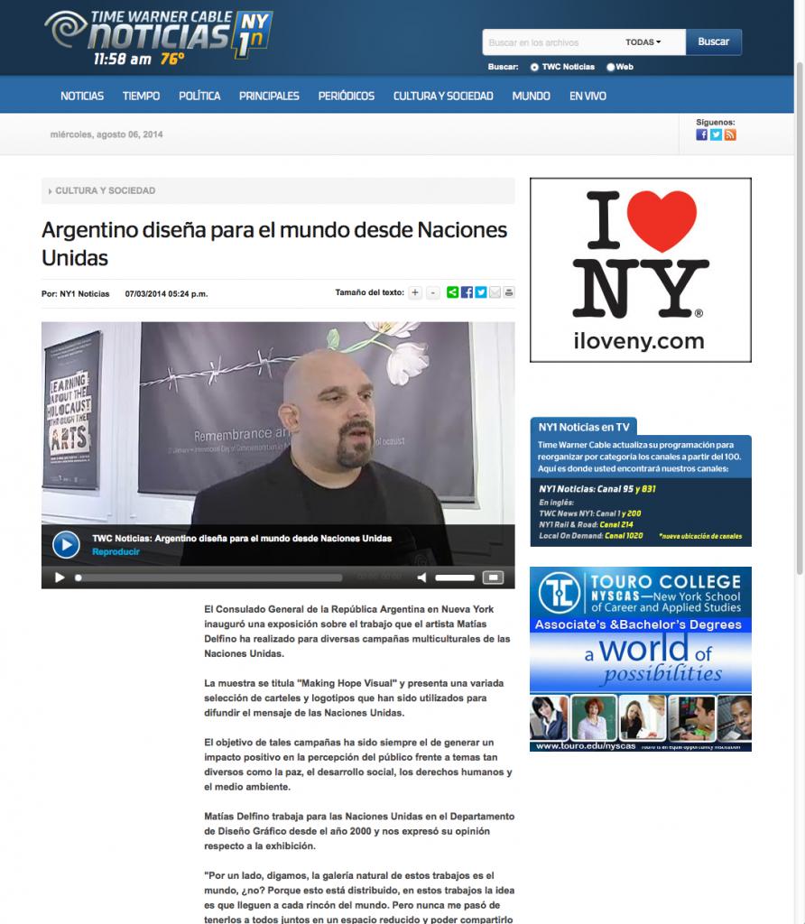 Argentino diseña para el mundo desde Naciones Unidas