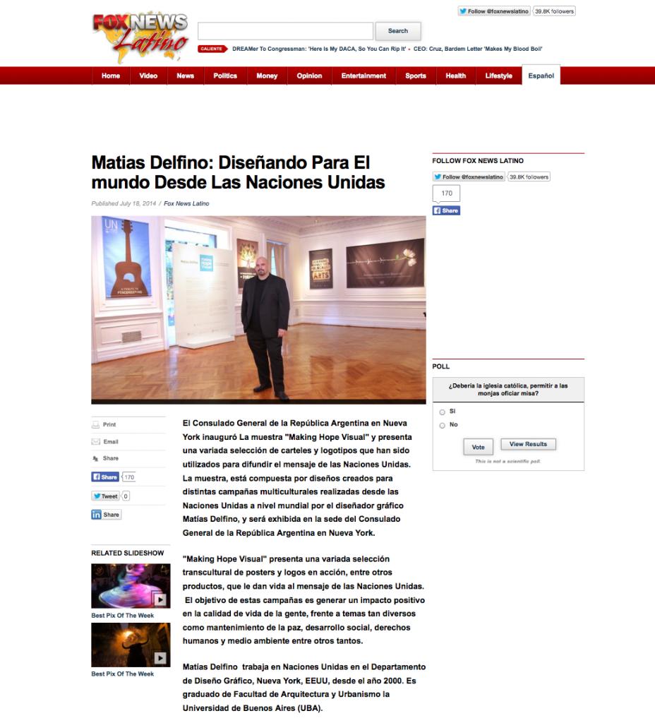 Matias Delfino: Diseñando Para El mundo Desde Las Naciones Unidas